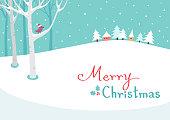 Christmas,holiday,winter,landscape,bird,snow,house,tree