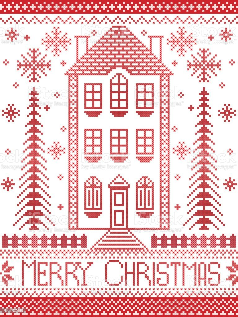 Merry Christmas Winter Nordic Style And Inspired By Scandinavian ...