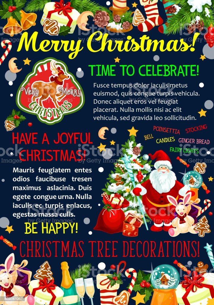 Merry Christmas Wishes Greeting Cards.Merry Christmas Wishes Vector Greeting Card Stock