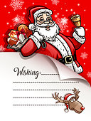 drawing of vector Christmas wishing card. Created by illustrator cs6. This file of transparent.