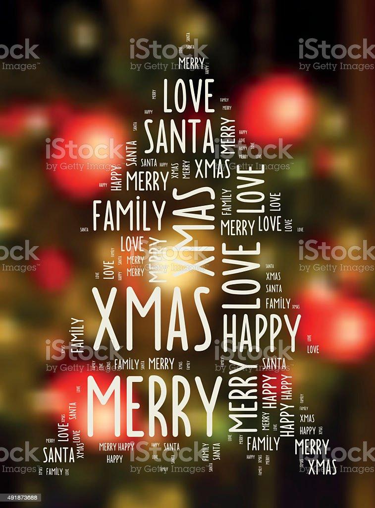 Parole Di Buon Natale.Buon Natale Auguri Di Parole Su Sfondo Sfocato Lume Di