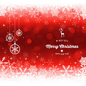Vector of Merry Christmas decorations and greetings with color background. EPS Ai 10 file format.