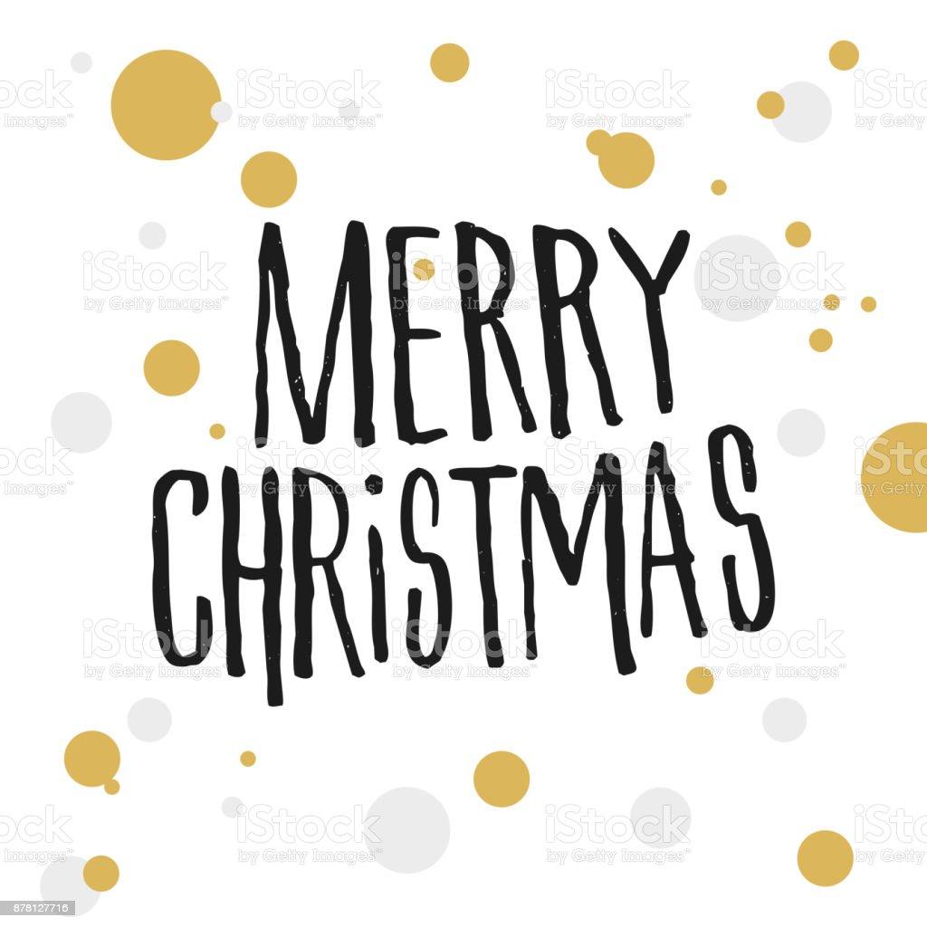 Frohe Weihnachten Gold.Frohe Weihnachten Mit Gold Und Grauen Punkten Stock Vektor Art Und