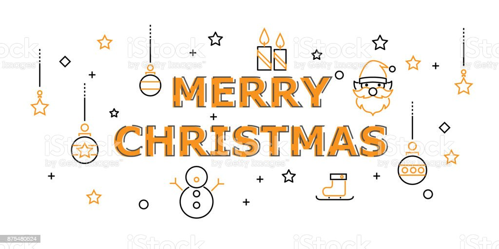 Joyeux Noël Avec Icône Situé Dans La Notion De Bonne Année