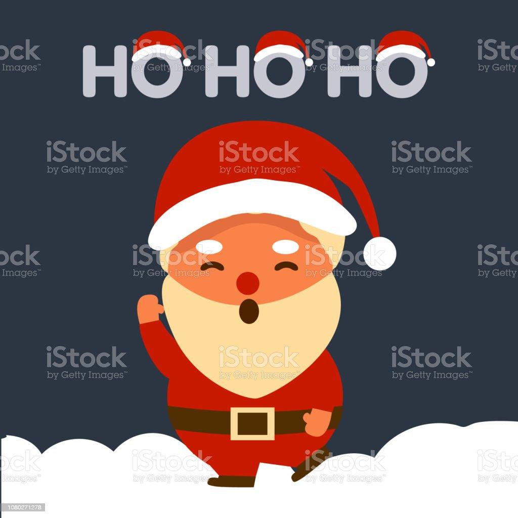 Ho Ho Ho Frohe Weihnachten.Frohe Weihnachten Mit Dem Weihnachtsmann Sagt Ho Ho Ho