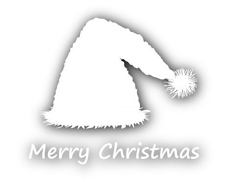 Schriftzug Frohe Weihnachten Zum Ausdrucken.Frohe Weihnachten Mit Weihnachtsmütze Stock Vektor Art Und Mehr