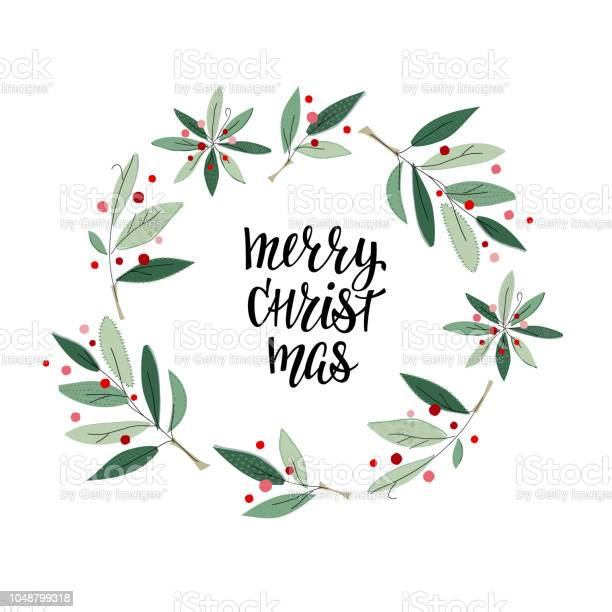 Merry christmas wreath winter season postcard vector id1048799318?b=1&k=6&m=1048799318&s=612x612&h=tubq4fablivge39lgtoery7ei0fmqpc9waa25bnhoq8=