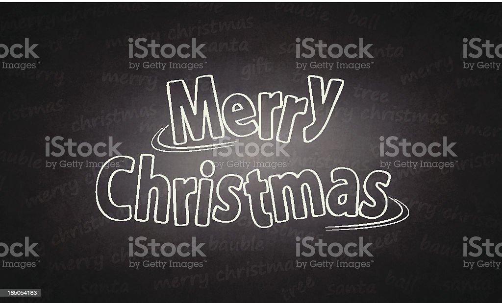 Merry Christmas written on blackboard royalty-free stock vector art