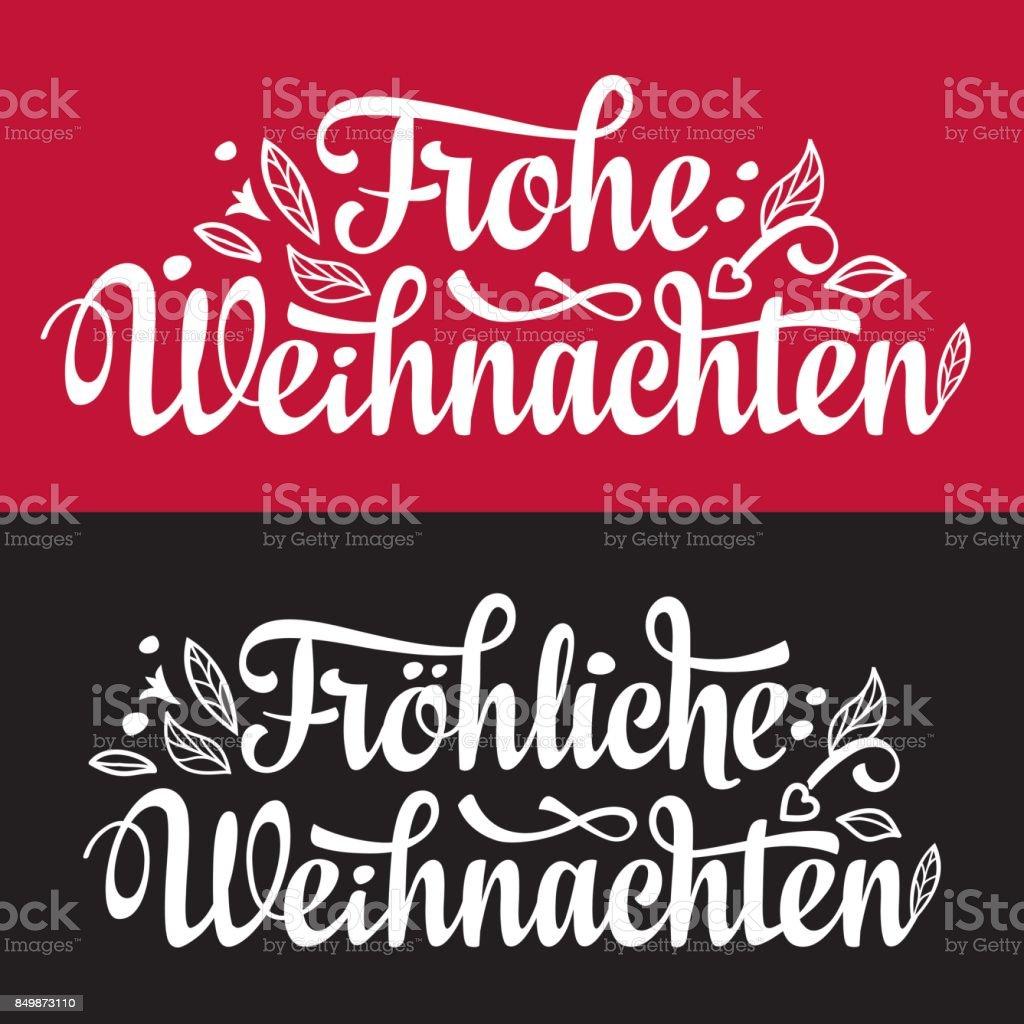 Glückwünsche Zu Weihnachten.Frohe Weihnacht Weihnachten Glückwünsche In Deutschland Stock Vektor