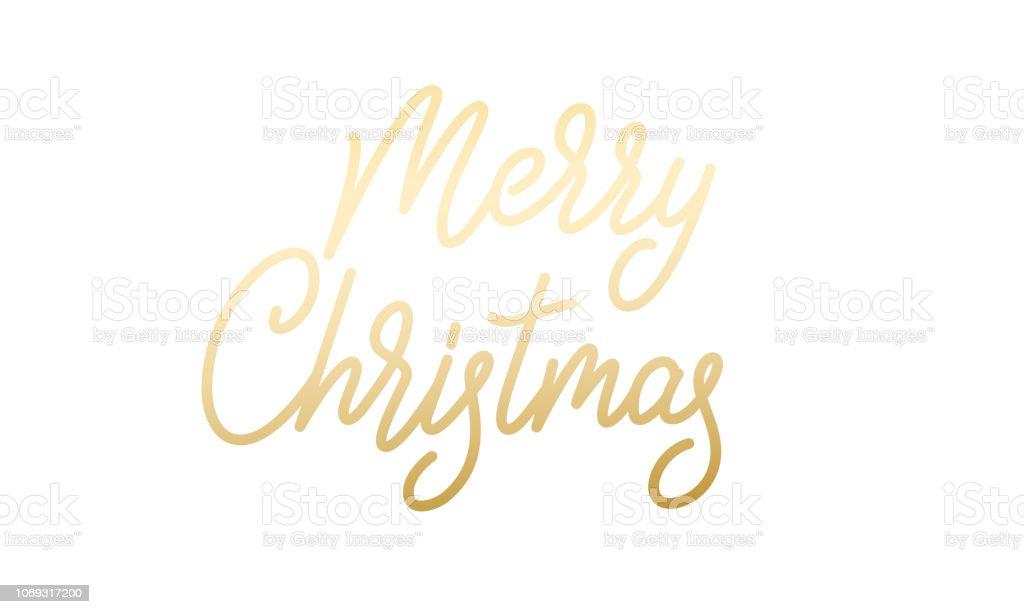 Frohe Weihnachten Aufkleber.Frohe Weihnachten Xmas Gold Kalligraphie Schriftzug Aufkleber Stock Vektor Art Und Mehr Bilder Von 2019