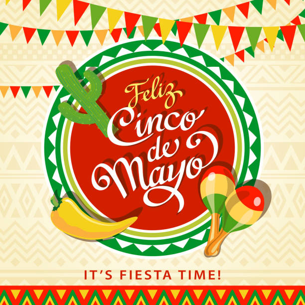 Feliz Cinco De Mayo vector art illustration