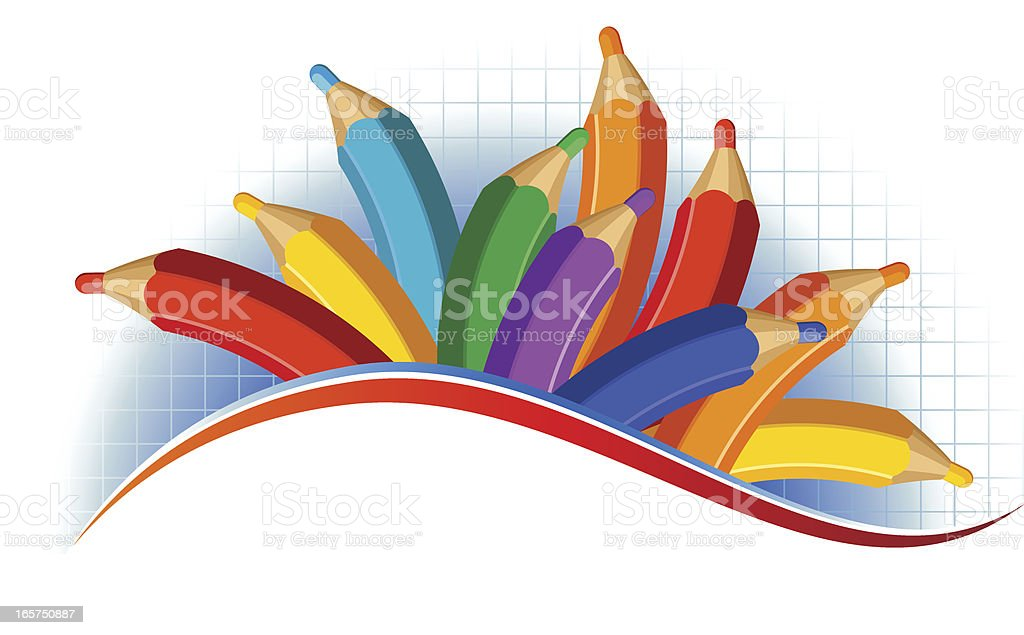 Merry pencils royalty-free stock vector art
