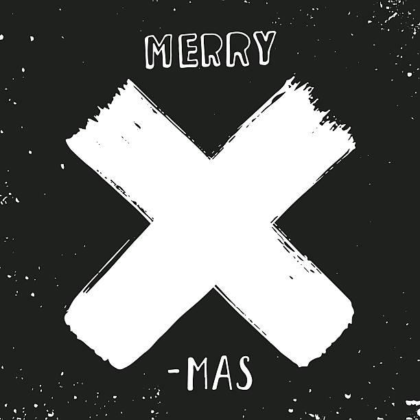 Merry X-mas vector art illustration