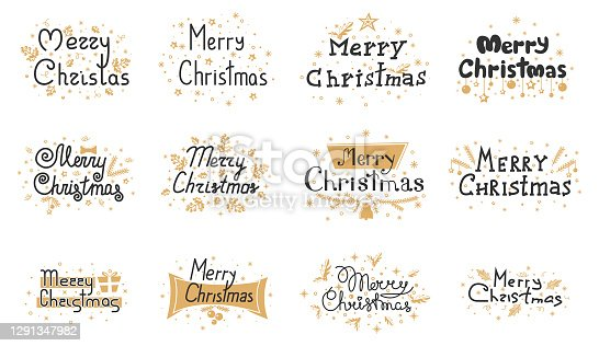 istock merry-christmas-gold-black-lettering-text-xmas 1291347982