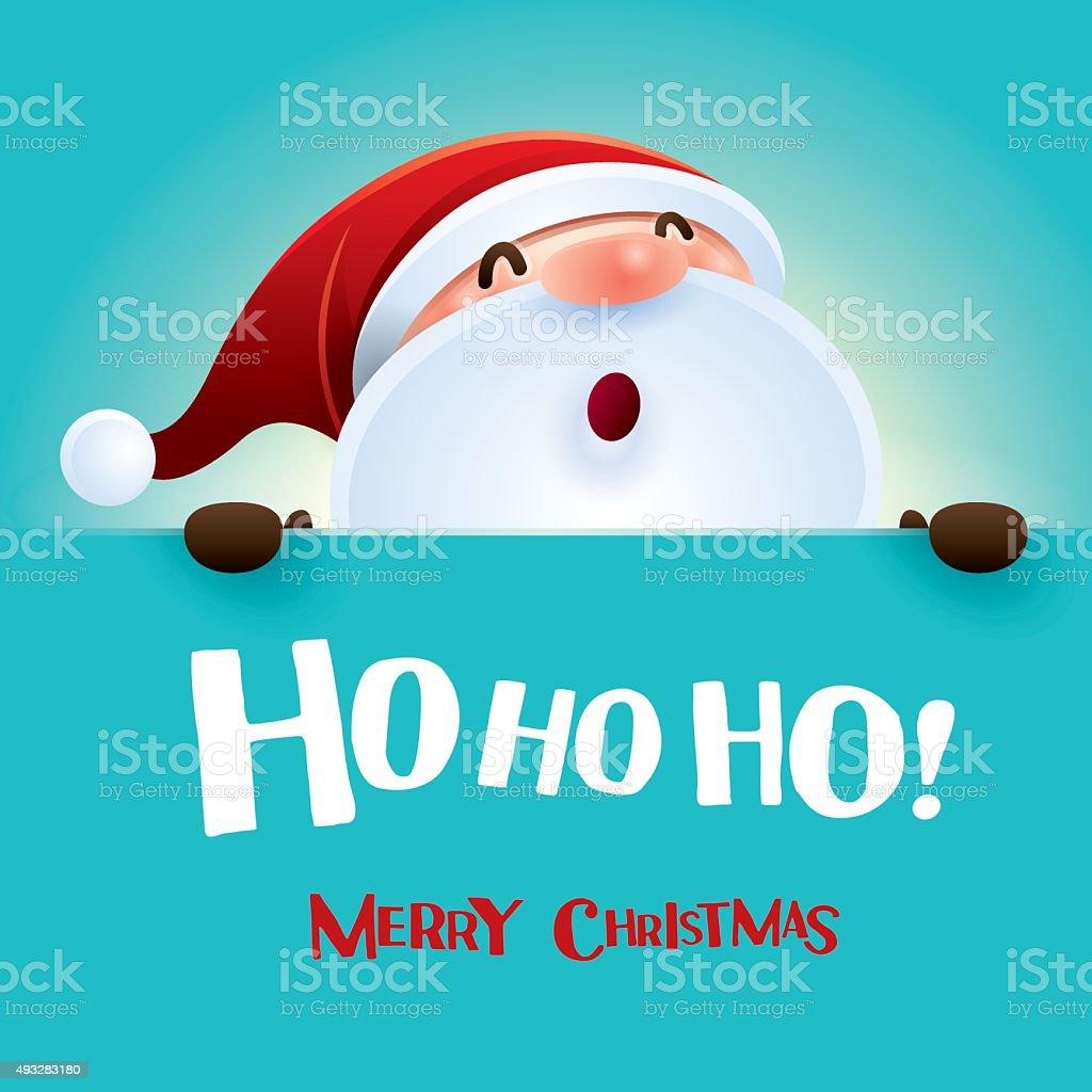 HO HO HO! Mery Christmas. vector art illustration