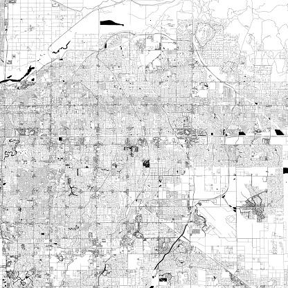 Mesa, Arizona Vector Map