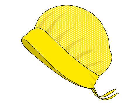 Mesh Cover Hair Hat Vector