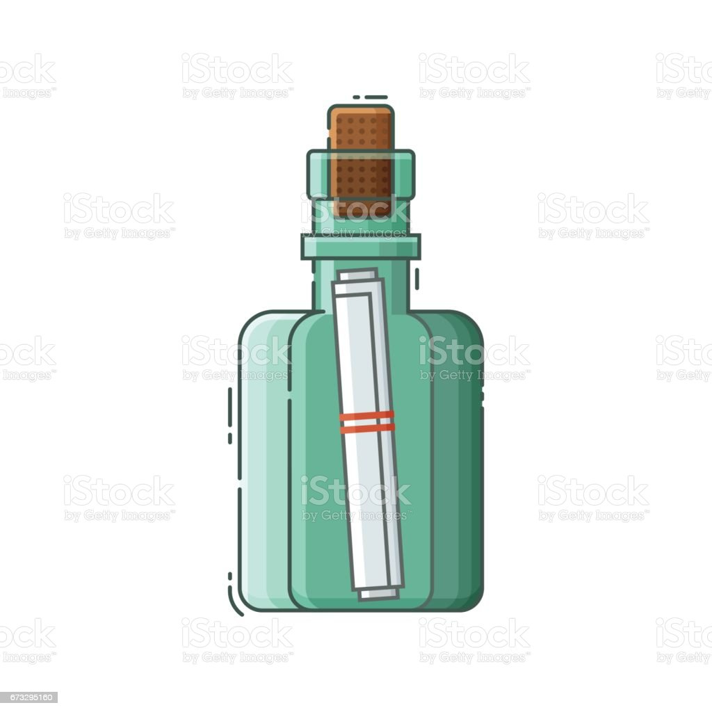 Message Bottle with Note royalty-free message bottle with note stock vector art & more images of bottle