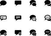 Message bubble icons
