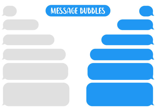message bubbles chat vector. - blasen stock-grafiken, -clipart, -cartoons und -symbole