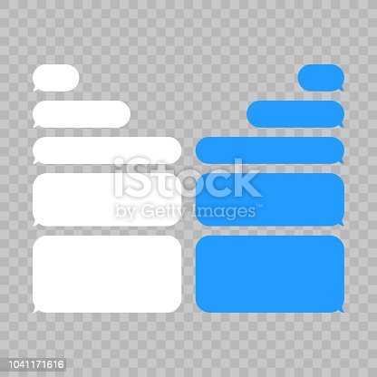 istock Message bubbles chat vector. Vector template of message bubbles chat boxes icons. 1041171616