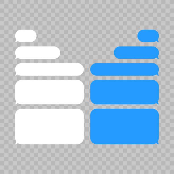 illustrations, cliparts, dessins animés et icônes de bulles de message chat vecteur. icônes de boîtes de chat des bulles modèle vecteur du message. - bulle de texte