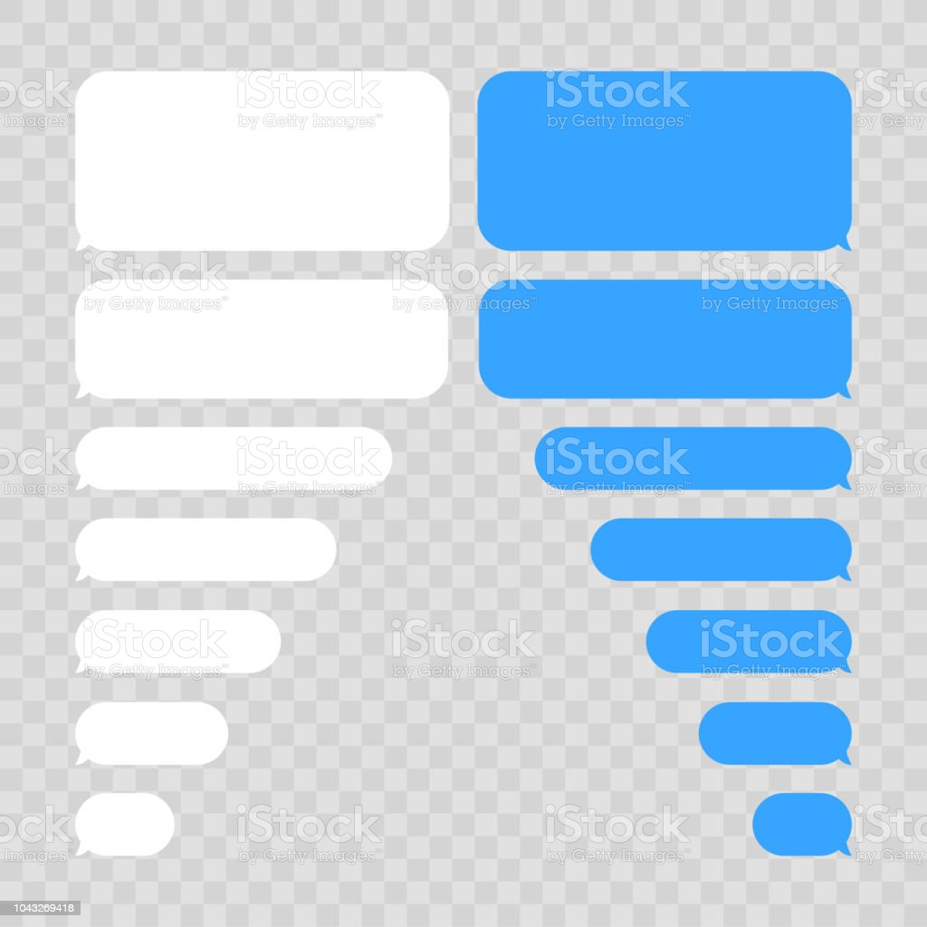 message bubbles chat vector vector template of message bubbles chat