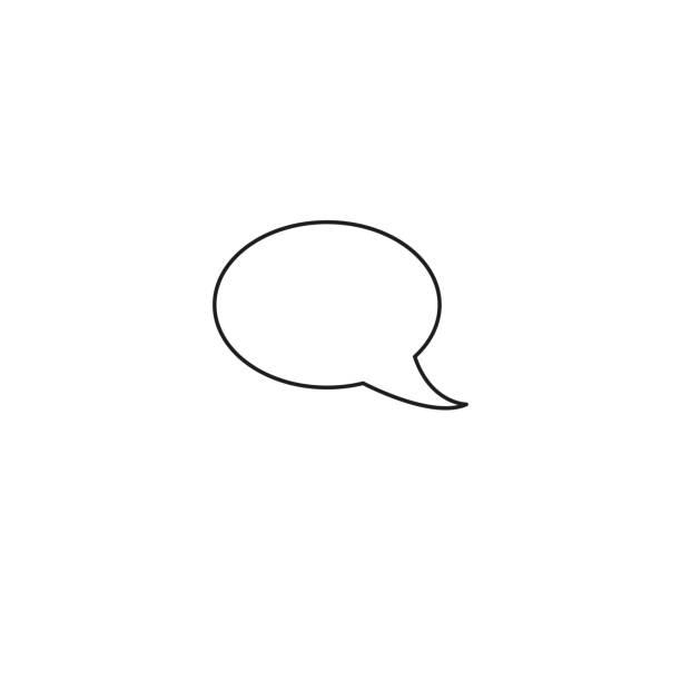 message buble line icon vector art illustration