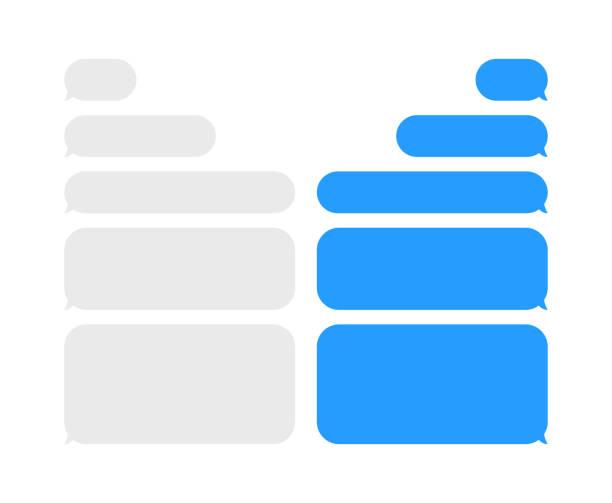 nachricht schwätzchenluftblasen vektor-icons für den messenger. vorlage für nachricht chat. vektor-illustration. - blase physikalischer zustand stock-grafiken, -clipart, -cartoons und -symbole