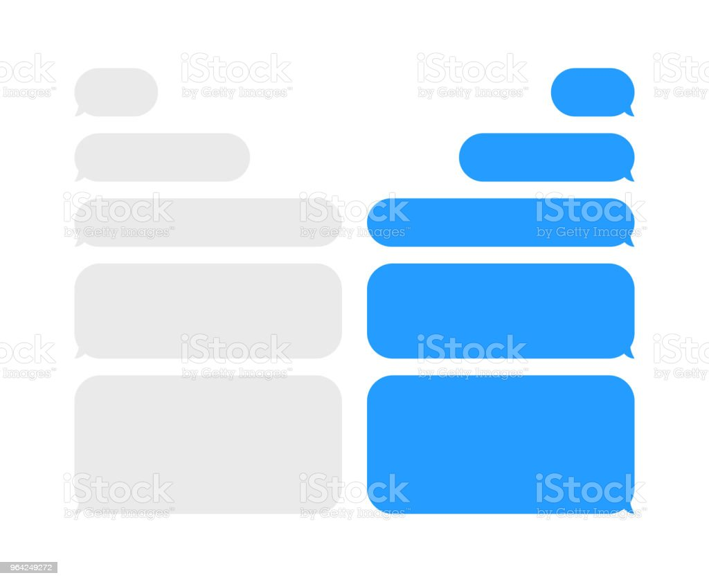 Message chat bubbles vector icons for messenger. Template for message chat. Vector illustration. vector art illustration