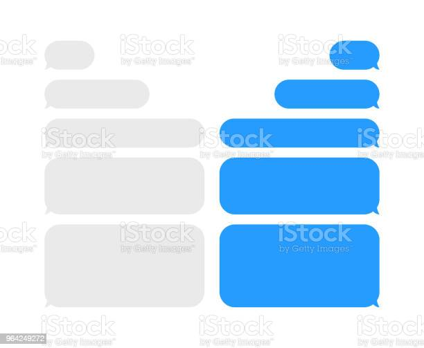 Message Chat Bubbles Vector Icons For Messenger Template For Message Chat Vector Illustration - Stockowe grafiki wektorowe i więcej obrazów Aplikacja mobilna