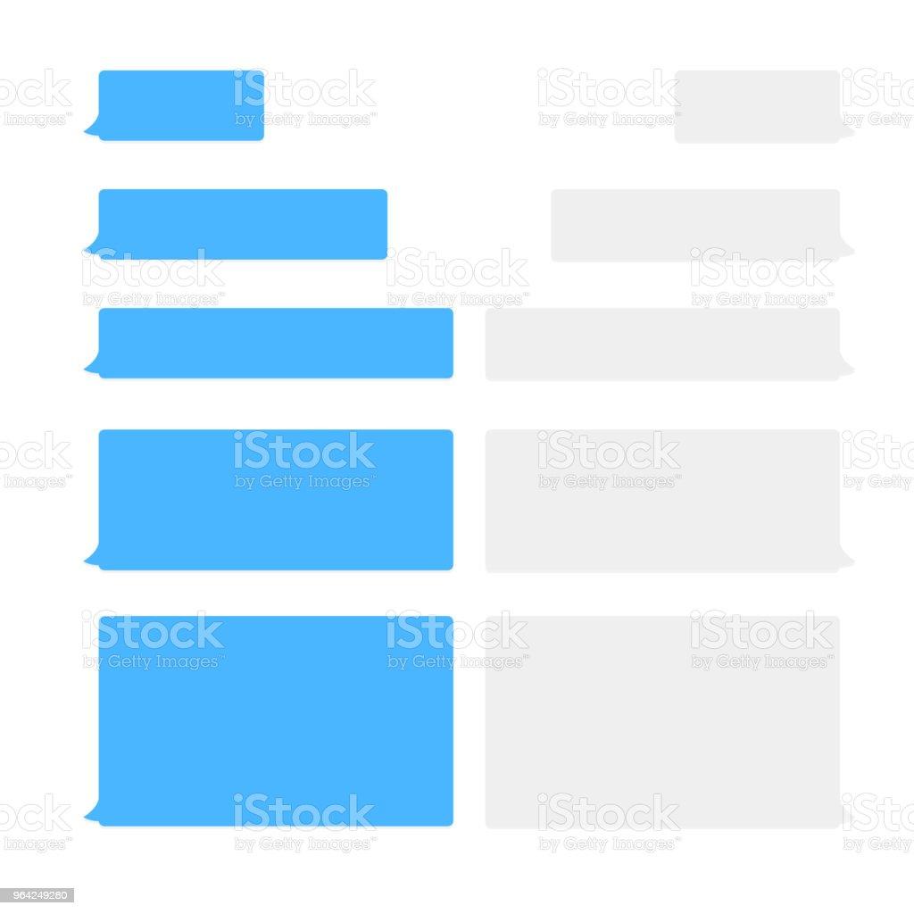 Ilustración de Burbujas De Chat Mensaje Vector Iconos Para Messenger ...