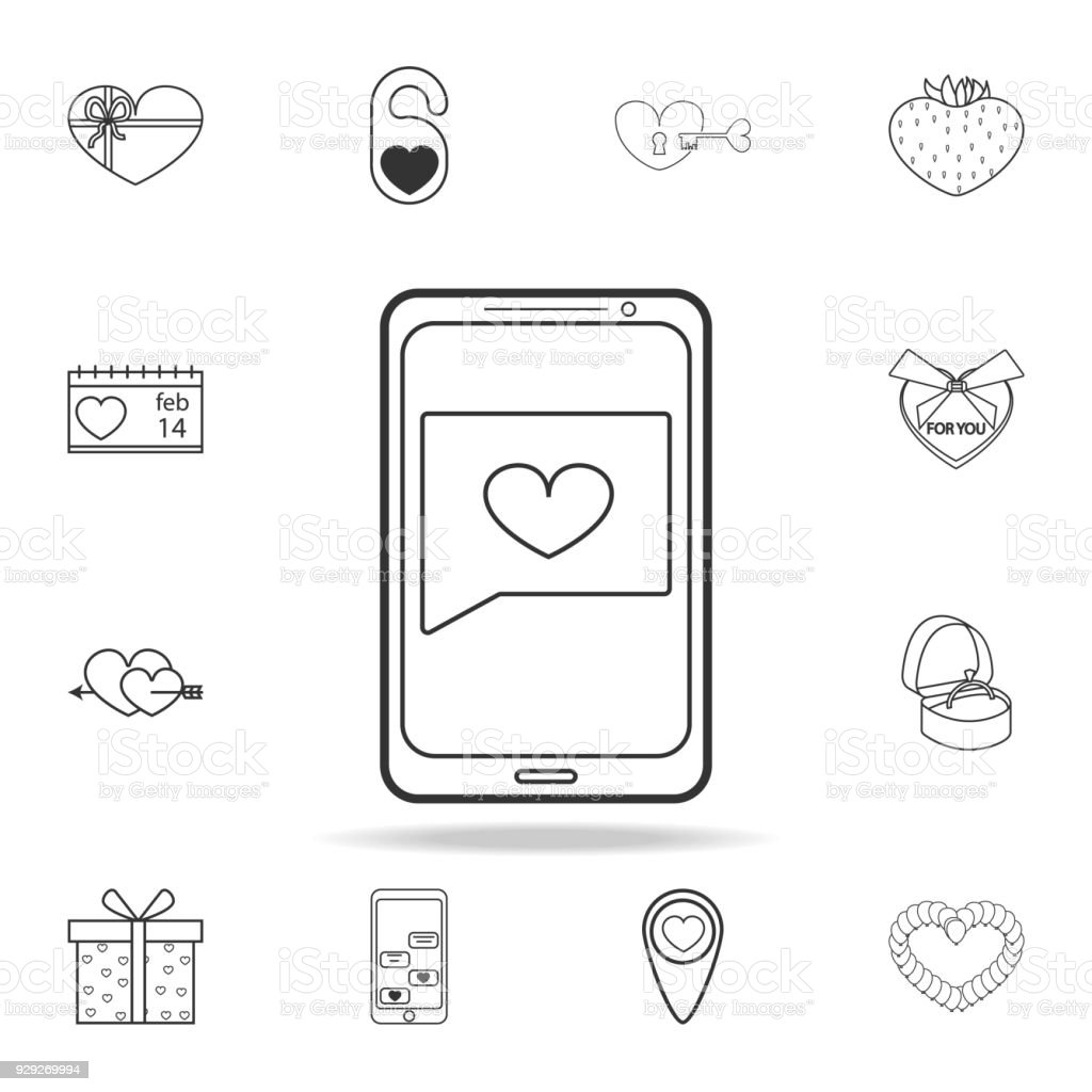 Message From A Loved One Icon Set Of Love Element Icons Premium