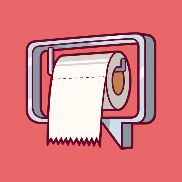 stockillustraties, clipart, cartoons en iconen met berichtpictogram als een wc-papier houder vector illustratie. - cell phone toilet