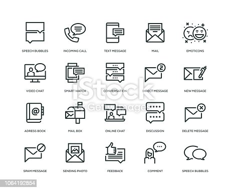 Message Icons - Line Series