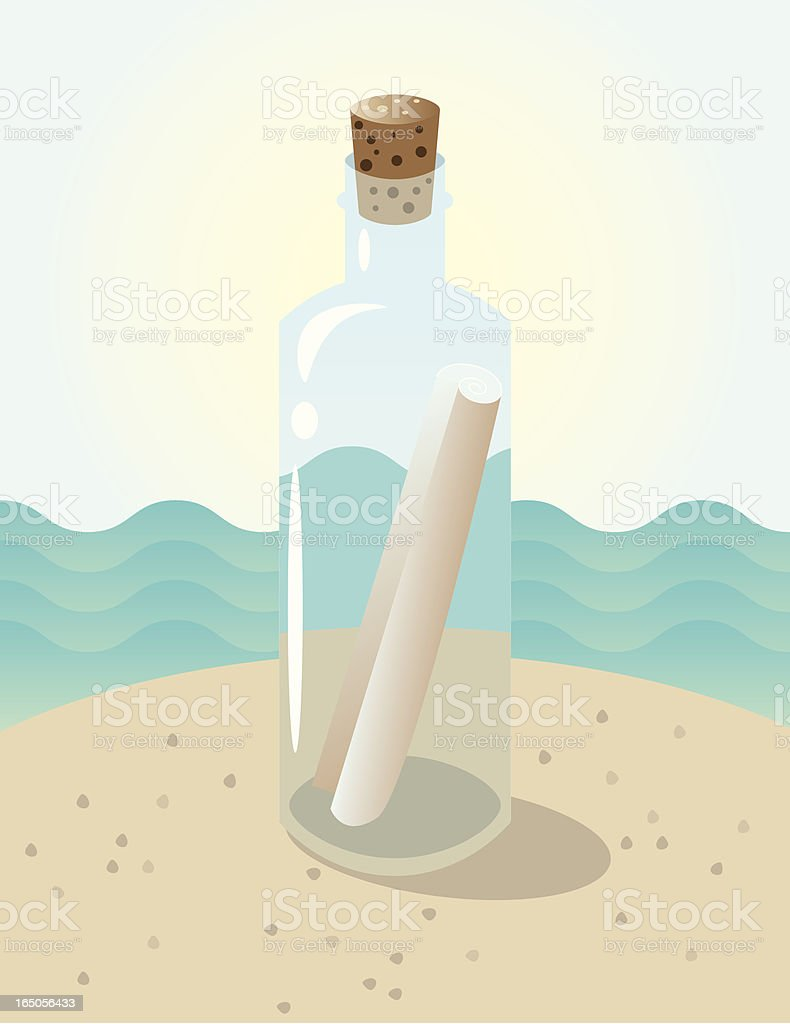 Message in a Bottle royalty-free message in a bottle stock vector art & more images of beach
