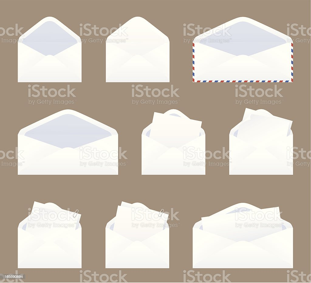 Message in an Envelope - incl jpeg. royalty-free stock vector art