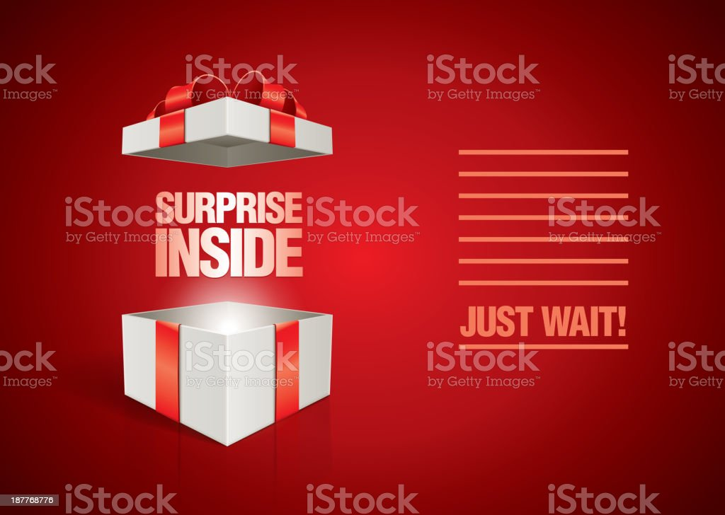 Message in the Box vector art illustration