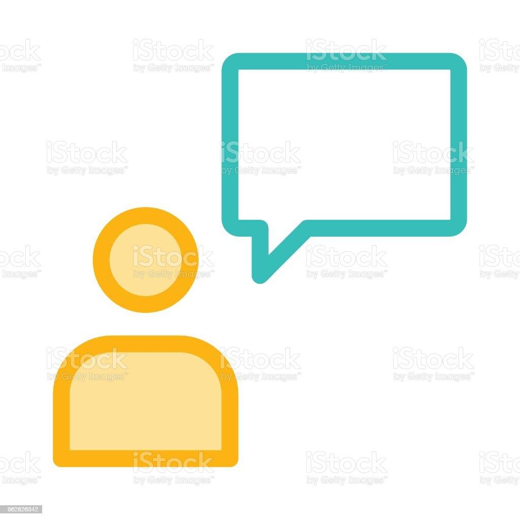 message - arte vettoriale royalty-free di Adulto