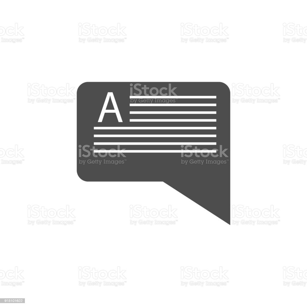 Message With Text Icon Elements Of Web Icon Premium Quality Graphic