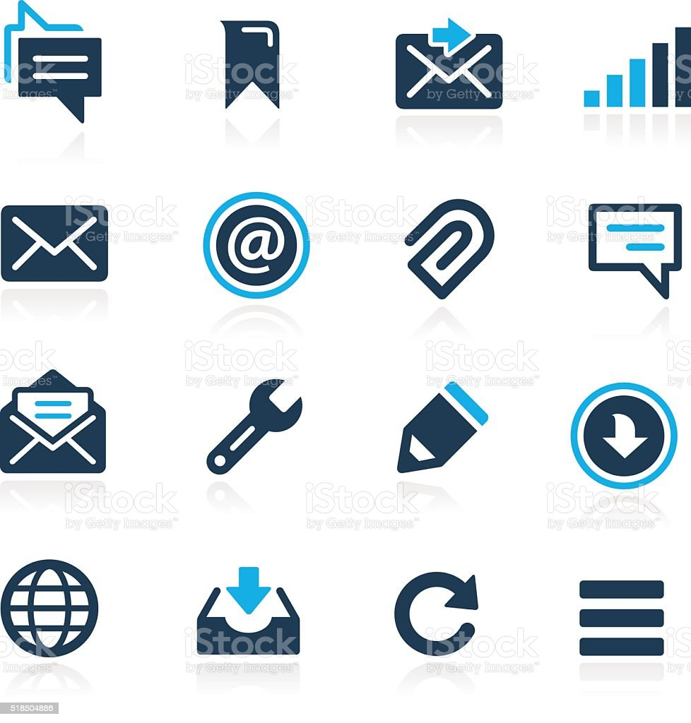 Messages Icons // Azure Series vector art illustration