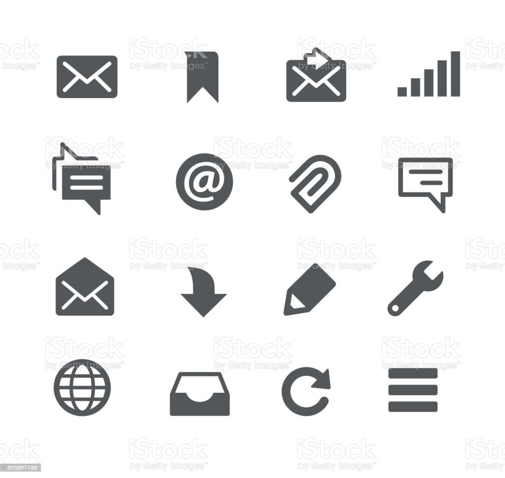 Messages Icons vector art illustration
