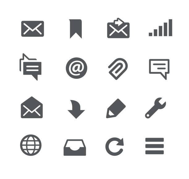messages icons - email icon stock illustrations, clip art, cartoons, & icons