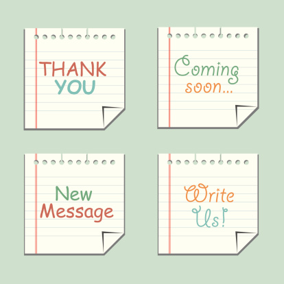 messages on folded paper