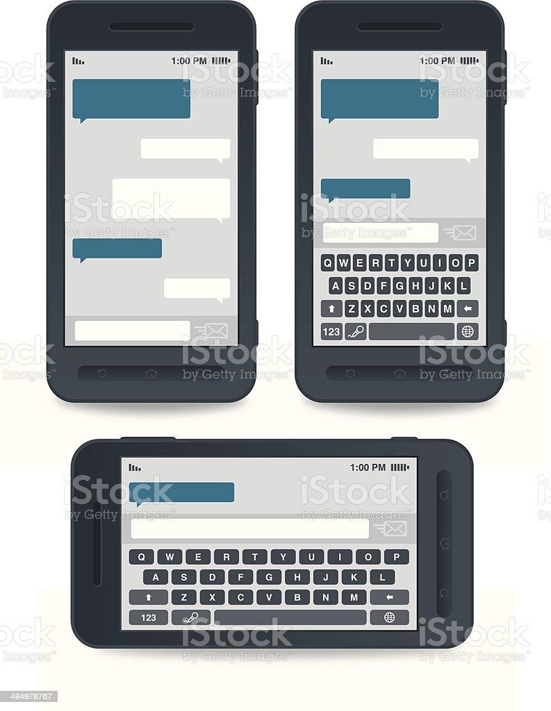 Messaging Templates vector art illustration