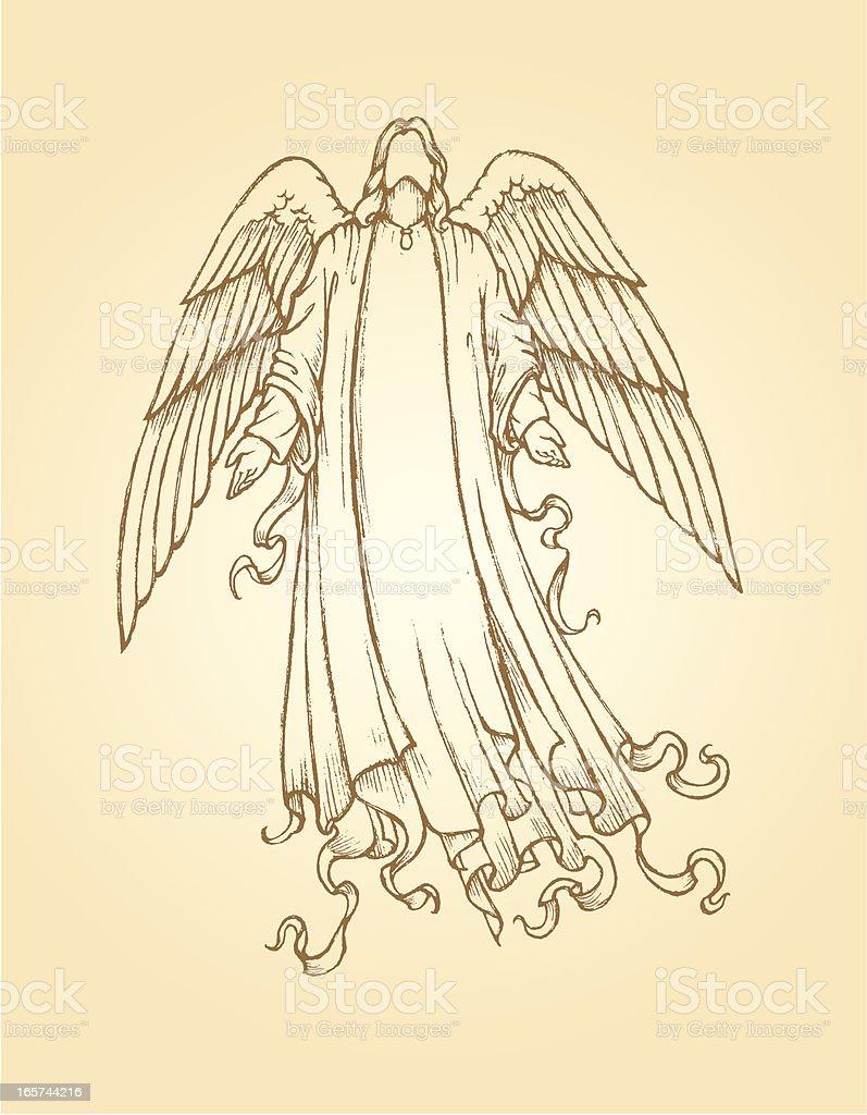 Mensajero Angel - ilustración de arte vectorial
