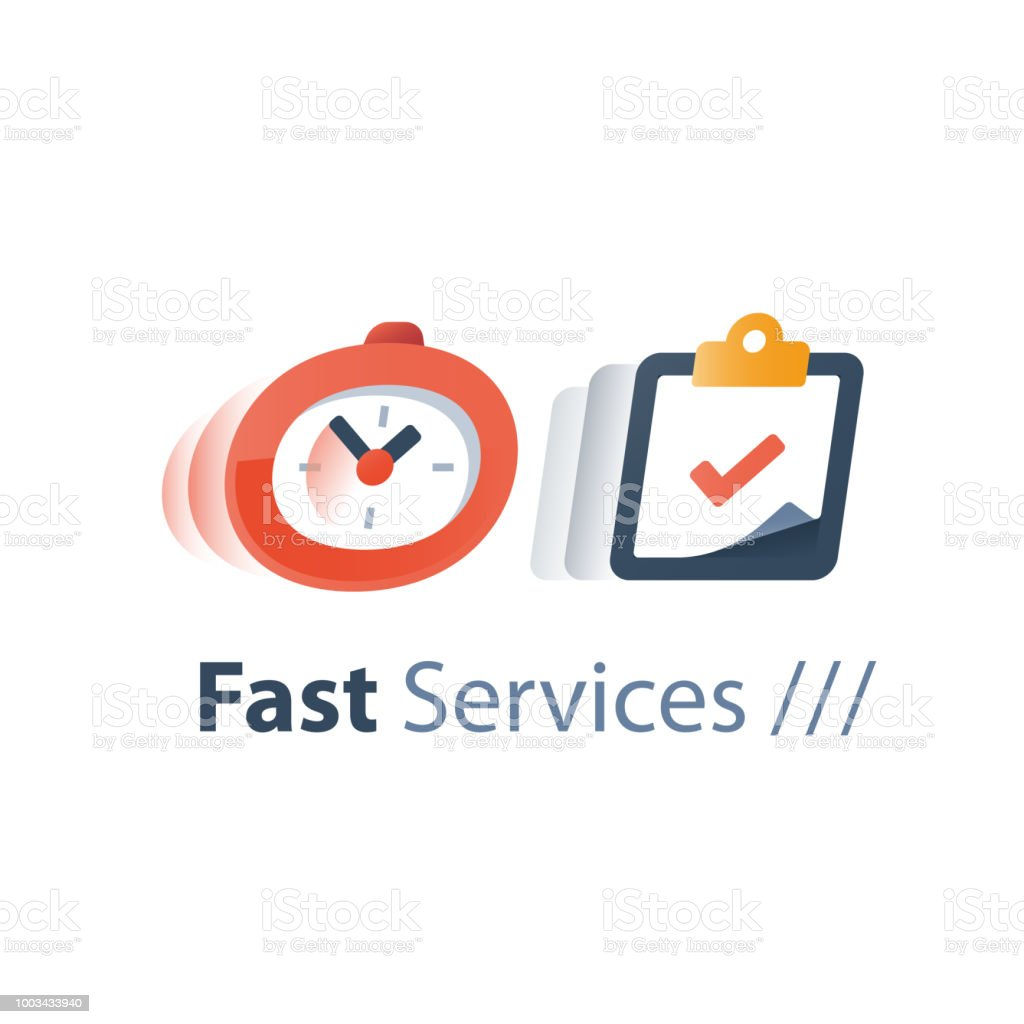 messenger delivery period fast service time running stopwatch in