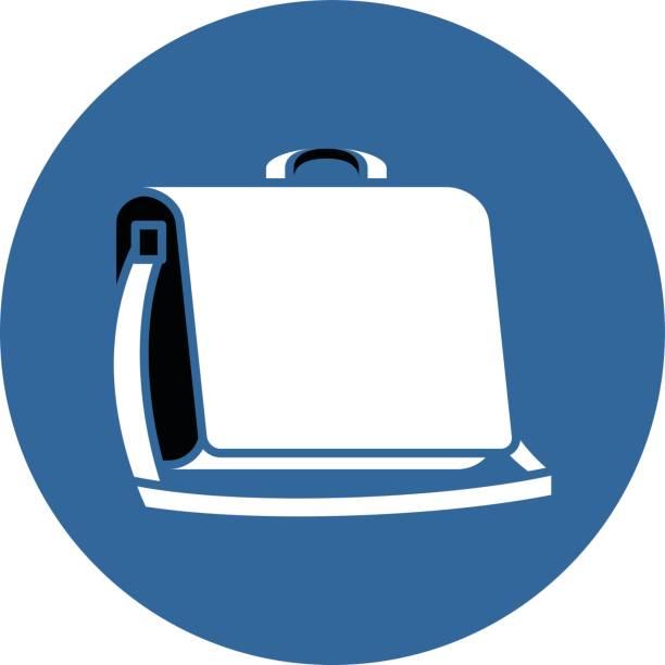 messenger - lederranzen stock-grafiken, -clipart, -cartoons und -symbole