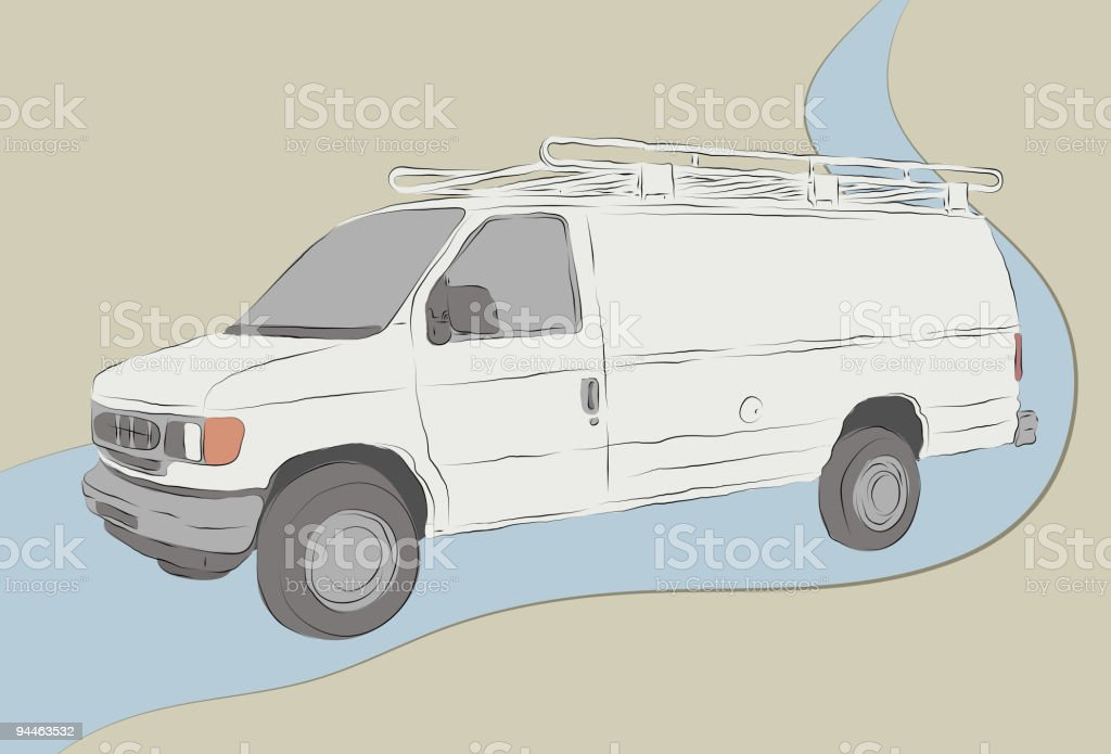 Messy Hand Drawn Work Van Sketch royalty-free messy hand drawn work van sketch stock vector art & more images of air conditioner