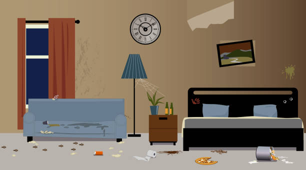 messy apartment room. Messy hotel room vector art illustration Royalty Free Apartment Clip Art  Vector Images Illustrations